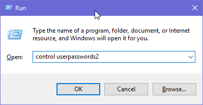 Windows, login, without password