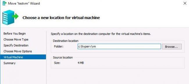 vm location